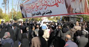 ایستگاه صلواتی بنی فاطمه در مراسم تجمع وراهپیمائی  پشتیبانی از نظام اسلامی
